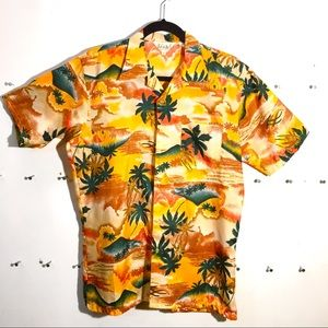 Vintage Hawaiian poly shirt sz M made in Korea